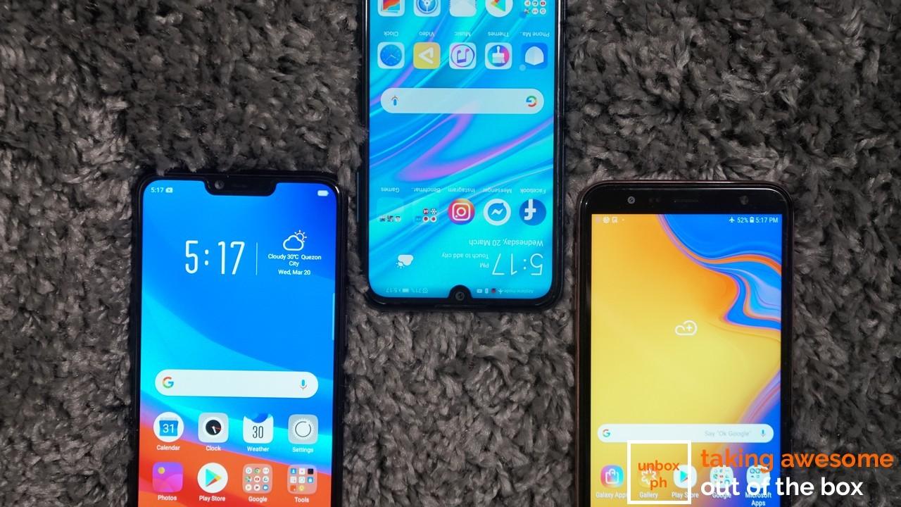 Samsung Galaxy J4+ VS OPPO A3s VS Huawei Y6 Pro 2019: Budget